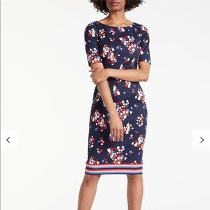 Boden Fleur Fitted Dress Navy/Tulip